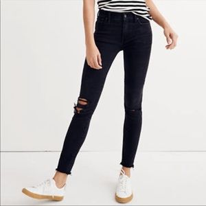 """Madewell 9"""" High Rise Skinny Distressed Jeans"""
